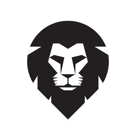Lion head - vectorconcept teken illustratie. Lion head logo. Wilde leeuw hoofd grafische illustratie. Wildecat logo teken. Pride of lion logo teken. Design element. Stock Illustratie