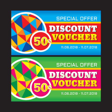 design background: Discount voucher vector layout 50% - special offer. Sale vector banner. Sale abstract background. Super big sale design layout. Discount flyer design. Sale banner template. Illustration