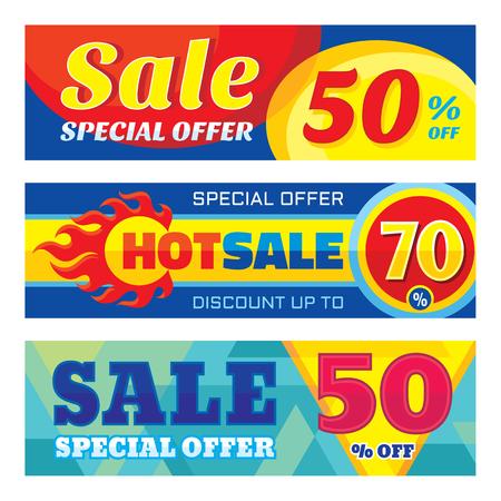 vector banner: Sale abstract vector banner set - discount up to 50% - 70%. Sale vector banners. Sale abstract background. Super big sale design layouts. Discount banner. Hot sale vector banner. Sale three banners.