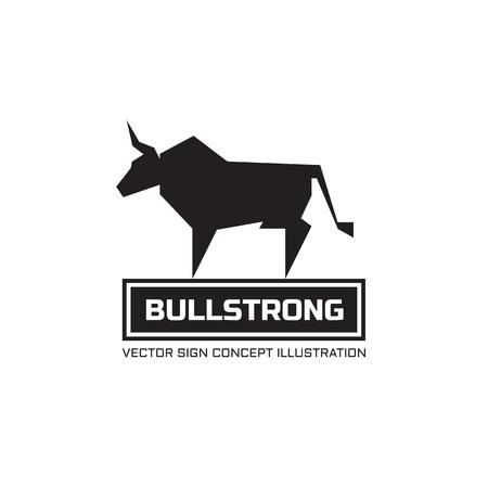 Bull silhouette - vecteur logo concept illustration. Logo de buffle animalier. Taurus illustration minimale. Modèle de logo vectoriel. Élément de conception. Logo