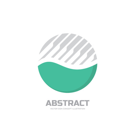 sphere logo: Abstract vector logo concept illustration. Abstract stripes in circle. Sphere vector logo. Nature bio product logo sign. Geometric logo sign. Vector logo design template. Illustration