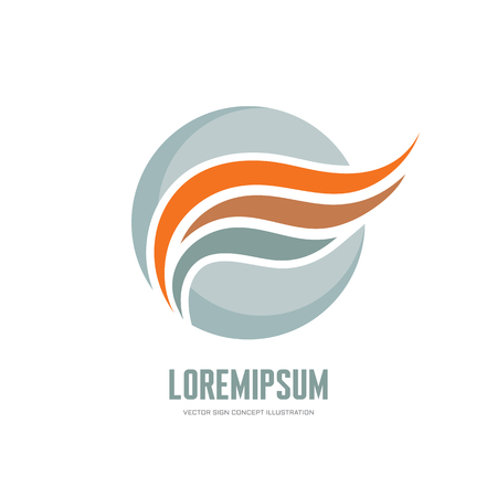 transport logo: Abstract business vector logo concept illustration. Abstract wing in circle logo sign. Smooth design elements. Vector logo template.