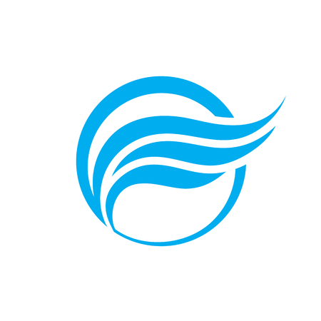 Resumen de vectores de negocio logotipo de la ilustración del concepto. ala resumen en señal de círculo logotipo. elementos de diseño liso. Modelo de la insignia del vector. Logos