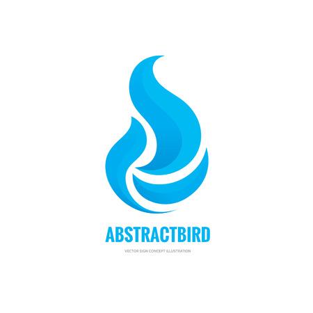 Pájaro abstracto del vector con las alas signo concepto de ilustración. Muestra abstracta paloma silueta. Modelo de la insignia del vector. elemento de diseño.