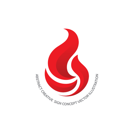 fire flame: Flame - vector logo concept illustration. Red fire sign. Fireball creative sign. Vector logo template. Design element. Illustration
