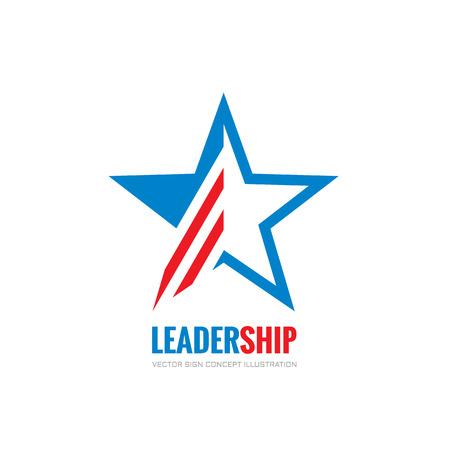 Leadership - vector logo concept illustration. Abstract star vector logo sign. USA star concept symbol. Decorative design element. Illustration