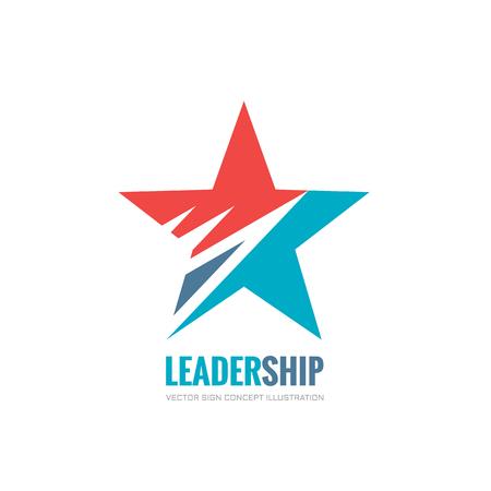 Przywództwo - wektor logo koncepcji ilustracji. Abstract star logo wektor znak. Element dekoracyjny wzór. Logo