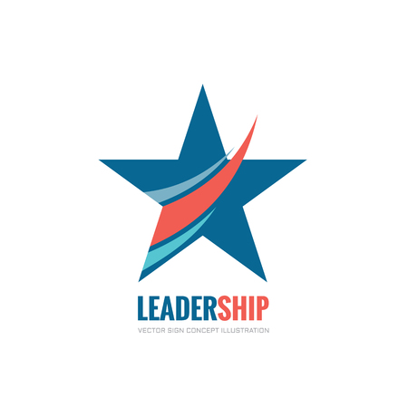Leadership - vector logo concept illustration. Abstract star vector logo sign. USA star concept symbol. Decorative design element. Çizim