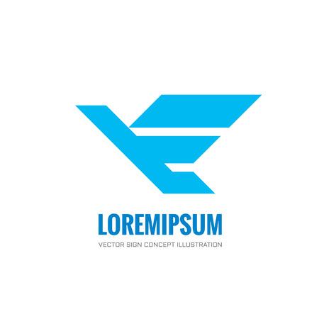 bird logo: Bird - vector logo concept illustration. Bird logo. Dove logo. Bird icon. Bird sign. Bird symbol. Vector logo template. Design element. Illustration