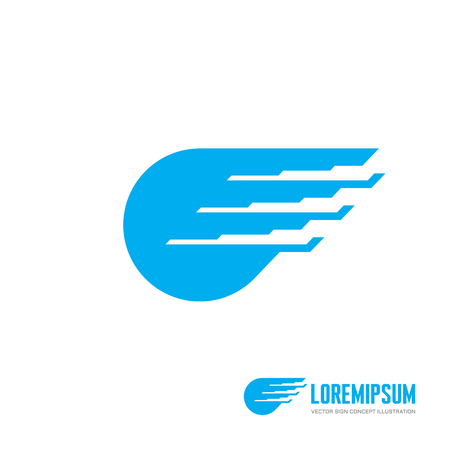 abstract wing: Abstract wing concept illustration. Modern technology abstract sign. Design element.