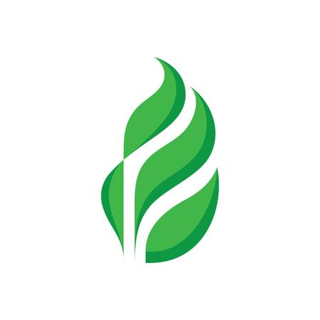Feuilles vertes - illustration de notion de vecteur modèle. Signe de produit de nature organique. Élément de conception.