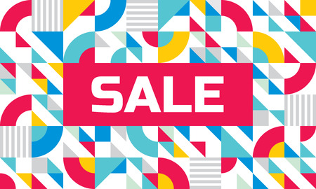 horizontal: Sale - abstract geometric banner. Vector background concept illustration. Design layout.