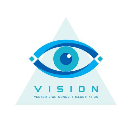 Vision - vettore modello concetto illustrazione. L'occhio umano segno astratto. Elemento di design.