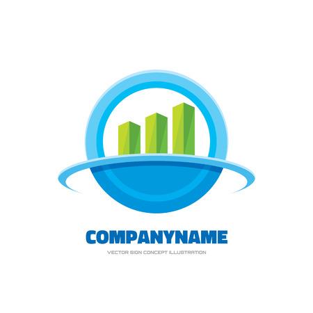 finance concept: Business finance - vector template concept illustration. Growth graphic sign. Economic symbol. Infographic icon. Design element.
