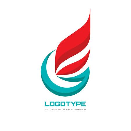Illustration de concept pour le modèle vectoriel abstrait Signe d'affaires drapeau Symbole lettre G Icône de feu de flamme. Insigne de gaz. Élément de conception.