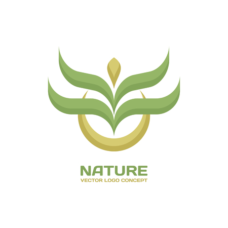 Nature - vector template concept. Leaves ecology creative illustration. Organic product sign. Abstract sprout symbol. Design element.