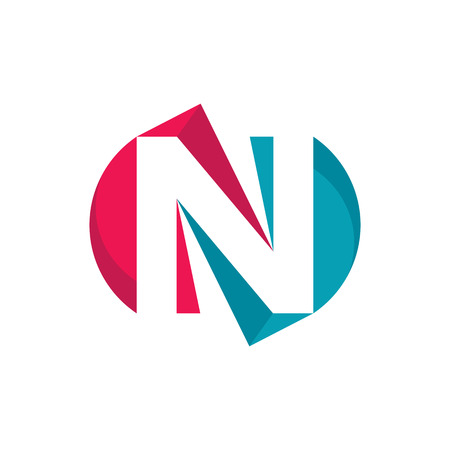 Letter N - vector template concept illustration. Abstract sign. Design element.
