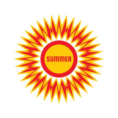 sunshine: Summer - vector template concept illustration. Sunshine icon. Vacation creative sign. Travel agency symbol. Design element. Illustration
