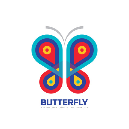 creative beauty: Butterfly vector logo template. Beauty salon - sign creative illustration. Abstract icon. Design element.