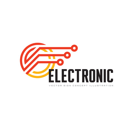 computer tech: Electronic technology - vector template for corporate identity. Abstract chip sign. Network, internet tech concept illustration. Speed computer net icon. Design element.