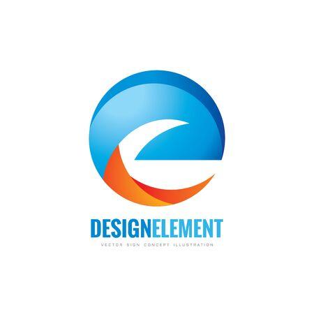 e business: E letter - vector business template concept illustration. Abstract shape creative sign. Design element.