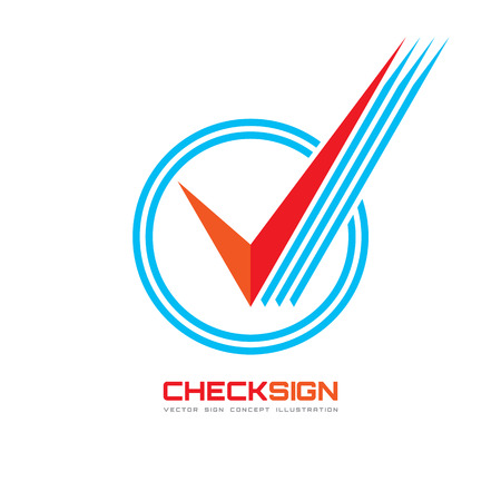 check symbol: Vector icon of check box - logo template illustration. Universal business sign for answer of yes. Concept symbol. Illustration