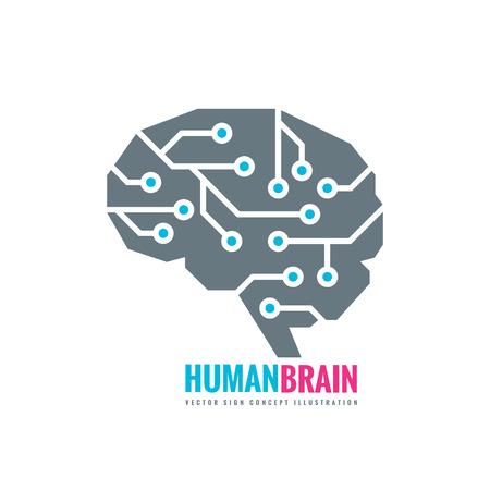 Creative idea - business vector logo template concept illustration. Abstract human brain sign. Flexible smooth design element