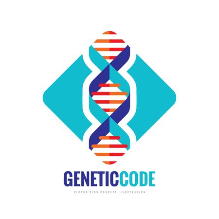 DNA BioTechnology - vector template concept illustration. Medical science creative symbol. Human biological genetic code structure. Design element. Illustration