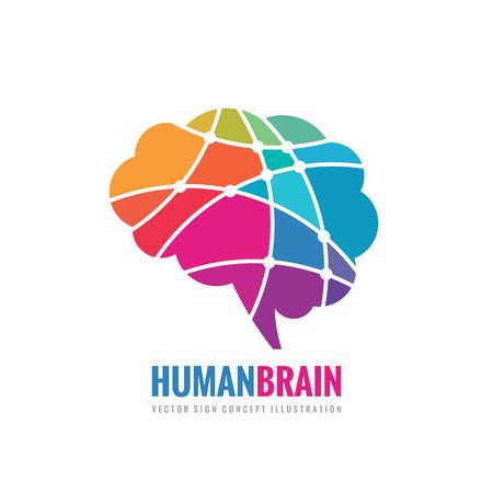 Human Brain - business vector template concept illustration. Abstract creative idea sign. Design element.