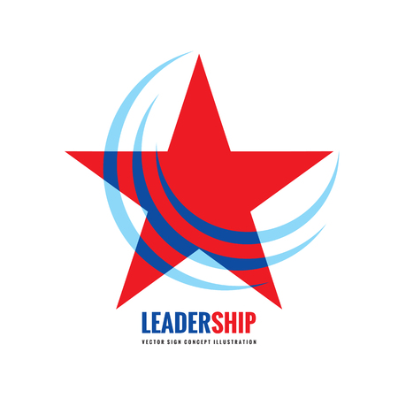 rating: Star - vector template concept illustration. Leadership sign. Abstract geometric creative icon. Design element. Illustration