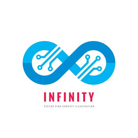 programm: Infinity - vector template concept illustration. Abstract shape creative sign. Modern technology creative symbol. Design element.