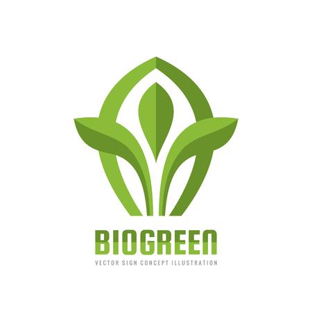 Bio verde - vector ilustración del logotipo del negocio del logotipo. concepto de la hoja creativa . símbolo del crecimiento del icono de crecimiento. diseño de crecimiento. elemento de diseño Foto de archivo - 84700416