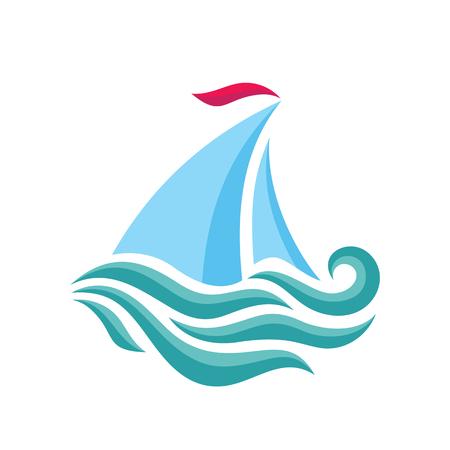 sailboat template concept illustration ship icon sea trip