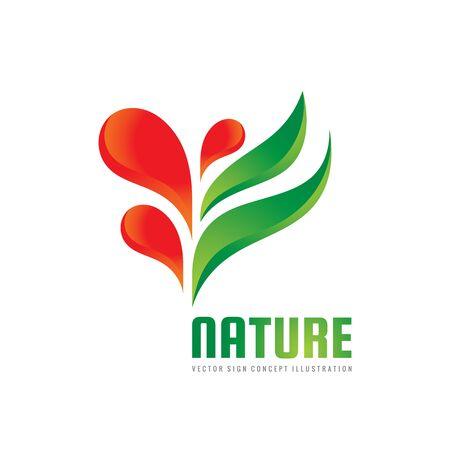 Naturaleza - vector logo plantilla concepto ilustración. Resumen verde deja signo creativo. Símbolo del entorno de crecimiento Icono de brotar Elementos de diseño. Foto de archivo - 86789350