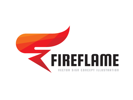 Fire flame - vector logo template concept illustration. Abstract red torch creative sign. Graphic design element. Illustration