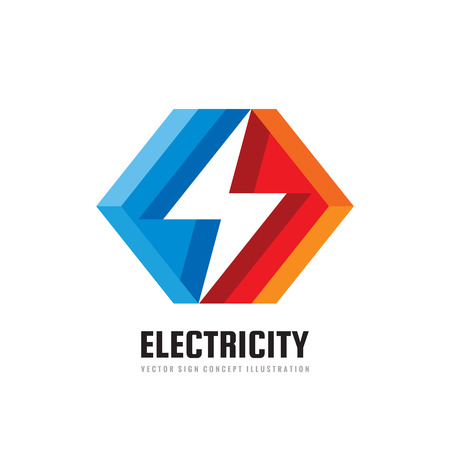 Lightning - vector business logo template concept illustration. Electricity energy power icon sign. Design element.