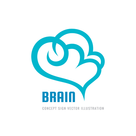 Creative idea - business icon template concept illustration. Abstract human brain sign. Cloud icon. Flexible smooth design element. Illustration