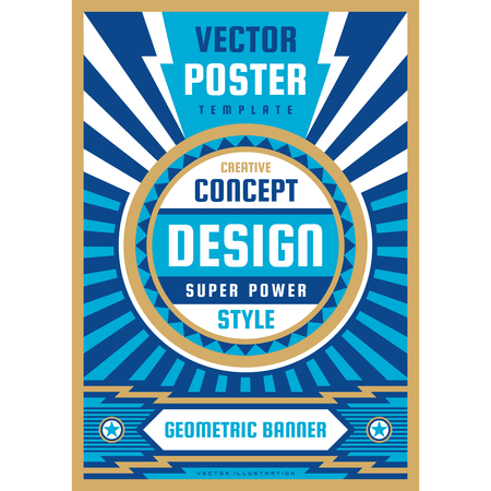 Art design poster. Graphic vertical banner. Vector illustration. Geometric abstract background.