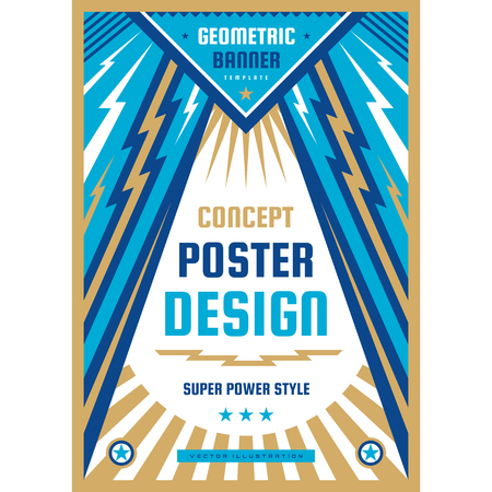 Art design poster. Graphic vertical banner. Vector illustration. Geometric abstract background. Ilustrace