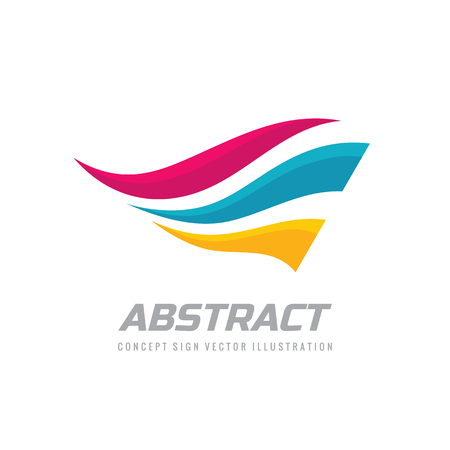 Abstract wings logo design. Dynamic motion flight sign. Logó