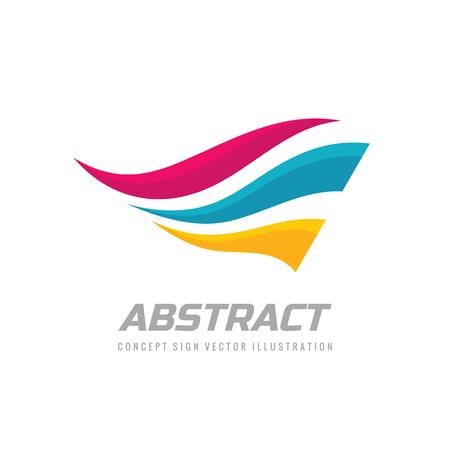 Diseño de logotipo de alas abstractas. Signo de vuelo de movimiento dinámico. Logos