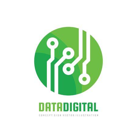 Data digital vector   design. Electronic technology concept sign. Illustration