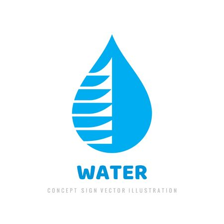 Drop clean water - vector   template design.