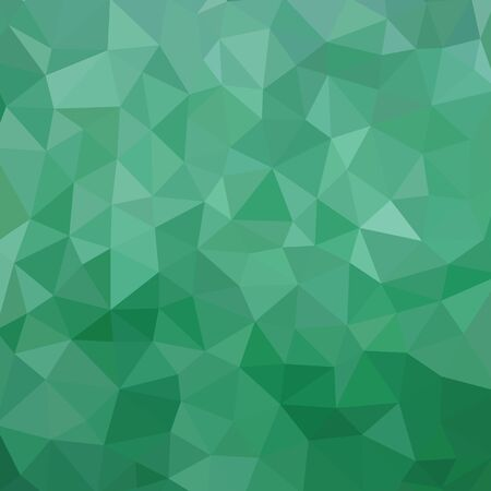 Green color polygonal background - vector pattern. Abstract geometric backdrop. Web site wallpaper.
