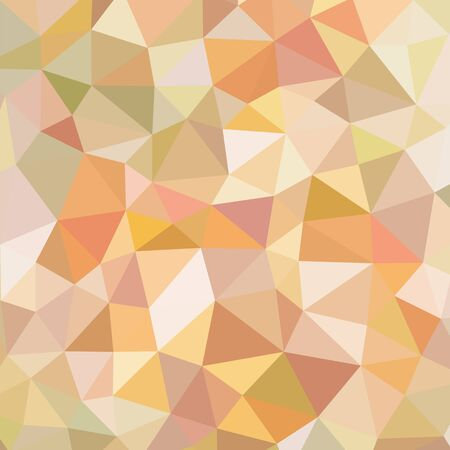 Polygonal abstract background - vector pattern in orange, brown, beige colors. Geometric backdrop. Web site wallpaper. Imagens - 128889049