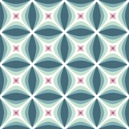 Mid-century modern art vector background. Abstract geometric seamless pattern. Decorative ornament in retro vintage design style. Foto de archivo - 128889047
