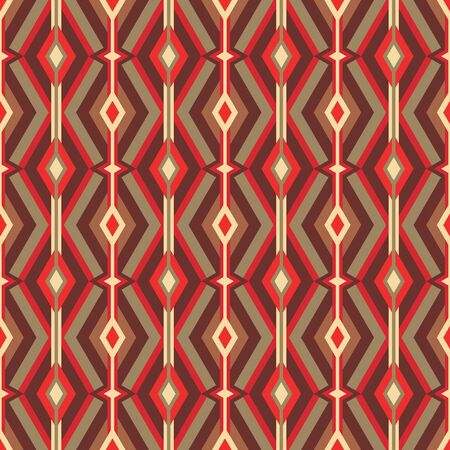 Mid-century modern art vector background. Abstract geometric seamless pattern. Decorative ornament in retro vintage design style. Atomic stylized backdrop. Foto de archivo - 128889055