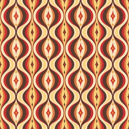 Mid-century modern art vector background. Abstract geometric seamless pattern. Decorative ornament in retro vintage design style. Atomic stylized backdrop.