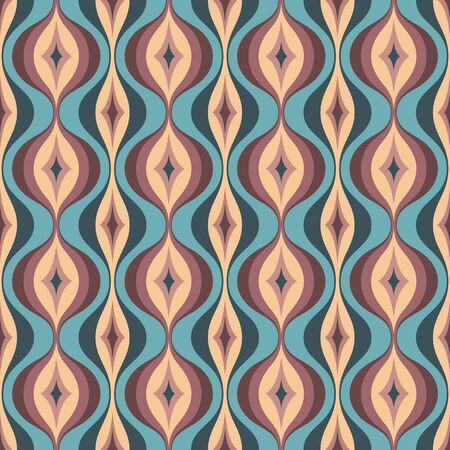 Mid-century modern art vector background. Abstract geometric seamless pattern. Decorative ornament in retro vintage design style. Atomic stylized backdrop. Imagens - 128889071