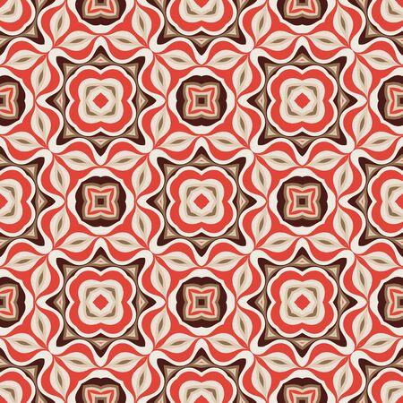 Abstract background seamless pattern. Carpet ethnic ornament. Vector illustration. Graphic design. Ilustração